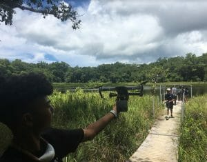 <p>Learning movie-making technologies and making 5-minute documentaries about water issues and solutions, which are presented to the community at large on the last day of the Summit.</p>
